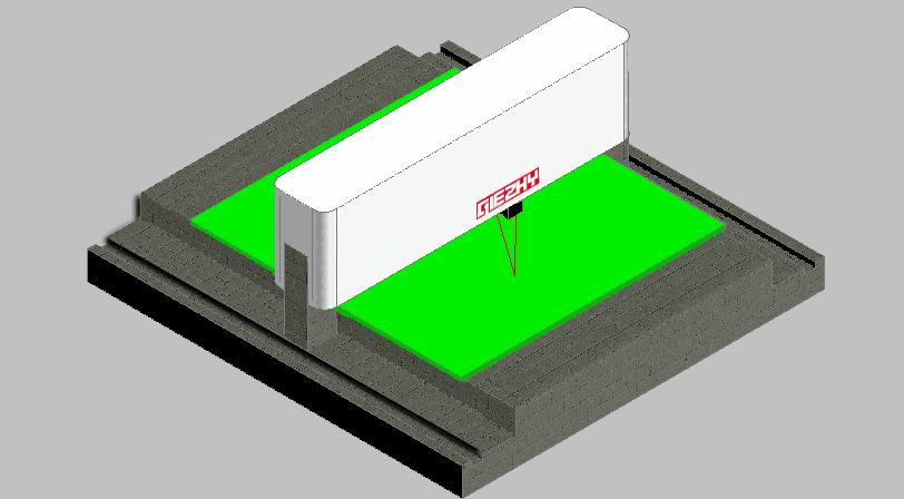 高精度测量发动机气缸体平面度